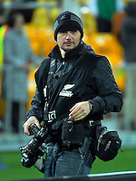 Photographer Marc Weakley during the Steinlager Series rugby union match between the New Zealand All Blacks and Wales at Westpac Stadium, Wellington, New Zealand on Saturday, 18 June 2016. Photo: Dave Lintott / lintottphoto.co.nz