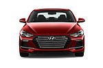 Car photography straight front view of a 2017 Hyundai Elantra Sport 4 Door Sedan Front View