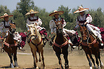 MEXICAN WOMEN DEMONSTRATE THEIR EQUESTRIAN SKILLS at the ANNUAL WINE FESTIVAL<br /> (2)