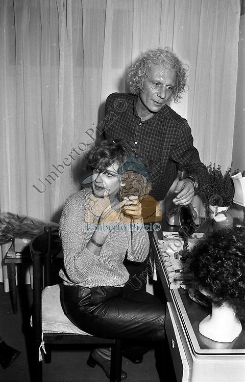 CARLA GRAVINA CON GIAN MARIA VOLONTE'<br /> TEATRO QUIRINO ROMA 1981
