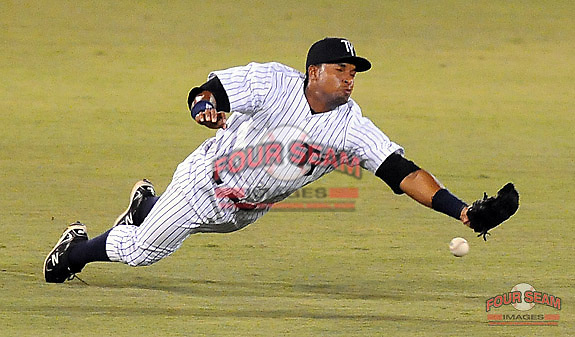 Photo of the Tampa Yankees of the Advanced Class A Florida State League, in a game against the Dunedin Blue Jays on April 20, 2011, at Steinbrenner Field in Tampa, Fla. Photo by Tom Priddy / Four Seam Images