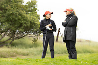 STANFORD, CA - APRIL 25: YuSang Hou, Laura Ianello at Stanford Golf Course on April 25, 2021 in Stanford, California.
