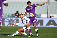 Alexis Sanchez of FC Internazionale and Igor Julio of ACF Fiorentina compete for the ball during the Italy Cup round of 16 football match between ACF Fiorentina and FC Internazionale at Artemio Franchi stadium in Firenze (Italy), January 13th, 2021. Photo Andrea Staccioli / Insidefoto