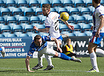 Kilmarnock v St Johnstone…09.04.16  Rugby Park, Kilmarnock<br />Chris Kane is brought down by Lee Hodson but no penalty was given<br />Picture by Graeme Hart.<br />Copyright Perthshire Picture Agency<br />Tel: 01738 623350  Mobile: 07990 594431