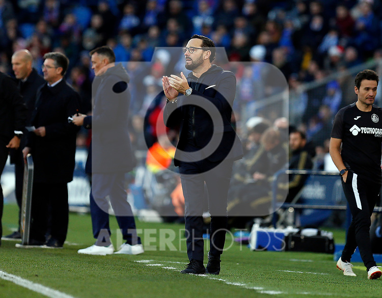 Getafe CF's coach Jose Bordalas   during the Spanish La Liga match round 19 between Getafe CF and Real Madrid at Santiago Bernabeu Stadium in Madrid, Spain during La Liga match. Jan 04, 2020. (ALTERPHOTOS/Manu R.B.)