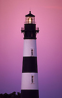The lighthouse on Bodie Island at twilight. Outer banks, North Carolina.