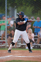 Elijah Dukes (15) during the WWBA World Championship at Terry Park on October 9, 2020 in Fort Myers, Florida.  Elijah Dukes, a resident of Tampa, Florida who attends King High School.  (Mike Janes/Four Seam Images)