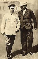 Joseph Stalin and Georgi Dimitrov in 1936