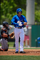 Dunedin Blue Jays Kacy Clemens (21) at bat during a Florida State League game against the Jupiter Hammerheads on May 16, 2019 at Jack Russell Memorial Stadium in Clearwater, Florida.  Dunedin defeated Jupiter 1-0.  (Mike Janes/Four Seam Images)
