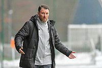 head coach Hamide Lamara of Standard pictured during a female soccer game between Standard Femina de Liege and Eendracht Aalst on the 12 th matchday of the 2020 - 2021 season of Belgian Scooore Womens Super League , saturday 30 th of January 2021 in Angleur , Belgium . PHOTO SPORTPIX.BE   SPP   STIJN AUDOOREN