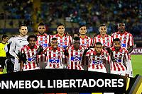 QUITO-ECUADOR, 11-03-2020: Jugadores de Atletico Junior posan para una foto antes de partido de la fase de grupos, grupo A, fecha 2, entre Independiente del Valle (ECU) y Atletico Junior (COL) por la Copa Conmebol Libertadores 2020, en el estadio Olimpico Atahualpa, de la ciudad Quito. / Players of Atletico Junior, pose for a photo prior a match of the groups phase, group A, 2nd date, between Independiente del Valle (ECU) and Atletico Junior (COL) for the Conmebol Libertadores Cup 2020, at the Olimpico Atahualpa in Quito. / Photo: VizzorImage / Andres Pina / PressSouth / Cont.