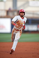Palm Beach Cardinals shortstop Edmundo Sosa (3) running the bases during a game against the Charlotte Stone Crabs on April 11, 2017 at Charlotte Sports Park in Port Charlotte, Florida.  Palm Beach defeated Charlotte 12-6.  (Mike Janes/Four Seam Images)