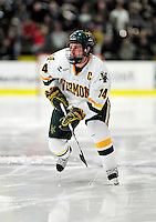24 November 2009: University of Vermont Catamount forward Brian Roloff, a Senior from West Seneca, NY, in action against the University of Massachusetts Minutemen at Gutterson Fieldhouse in Burlington, Vermont. The Minutemen defeated the Catamounts 6-2. Mandatory Credit: Ed Wolfstein Photo