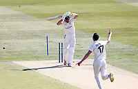 Nathan Gilchrist of Kent bowls Josh Baker during Kent CCC vs Worcestershire CCC, LV Insurance County Championship Division 3 Cricket at The Spitfire Ground on 5th September 2021
