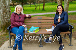 Enjoying a chat and an ice cream in the Listowel town park on Saturday, l to r:  Catriona Leahy and Margaret Walsh.