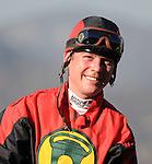 October 17, 2009.Jockey Tyler Baze after winning the Sen. Ken Maddy Handicap riding Gotta Have Her, Oak Tree at Santa Anita Park, Arcadia, CA