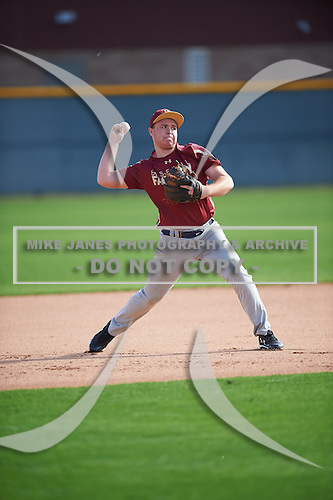 Walter Wise (17) of Eau Gallie High School in Melbourne Beach, Florida during the Under Armour All-American Pre-Season Tournament presented by Baseball Factory on January 14, 2017 at Sloan Park in Mesa, Arizona.  (Mike Janes/Mike Janes Photography)
