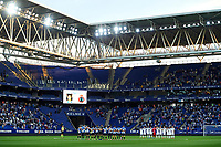 22nd September 2021: RCDE Stadium, Barcelona, Spain: La Liga Football, Espanyol versus Atletico Madrid; <br /> Both teams stand for honour prior the match