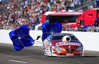 Feb. 18, 2012; Chandler, AZ, USA; NHRA pro stock driver Jason Line during qualifying for the Arizona Nationals at Firebird International Raceway. Mandatory Credit: Mark J. Rebilas-