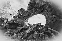 Broken Arch in Arches National Park, Utah