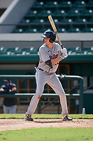 Detroit Tigers Bryant Packard (22) bats during a Florida Instructional League intrasquad game on October 24, 2020 at Joker Marchant Stadium in Lakeland, Florida.  (Mike Janes/Four Seam Images)