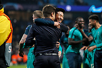 Tottenham Hotspur Manager Mauricio Pochettino celebrates with Son Heung-Min of Tottenham Hotspur after the UEFA Champions League Quarter Final second leg match between Manchester City and Tottenham Hotspur at the Etihad Stadium on April 17th 2019 in Manchester, England. (Photo by Daniel Chesterton/phcimages.com)<br /> Foto PHC/Insidefoto <br /> ITALY ONLY