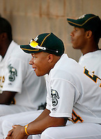 Michael Choice - AZL Athletics - 2010 Arizona League. Choice, Oakland's first round draft choice, reported to the Athletics minor league complex in Phoenix, AZ after signing his contract. .Photo by:  Bill Mitchell/Four Seam Images..