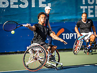 Amstelveen, Netherlands, 22 Augustus, 2020, National Tennis Center, NTC, NKR, National  Wheelchair Tennis Championships, Man's doubles final  final :  Carlos Anker (NED)  (L) and Tom Egberink (NED)   <br /> Photo: Henk Koster/tennisimages.com