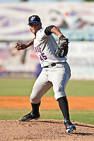 Jeurys Familia (45) of the St. Lucie Mets during a game vs. the Daytona Cubs May 16 2010 at Jackie Robinson Ballpark in Daytona, Florida. St. Lucie won the game against Daytona by the score of 5-3.  Photo By Scott Jontes/Four Seam Images