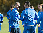 St Johnstone Training….28.10.16<br />Steven Anderson and Joe Shaughnessy pictured during training this morning at McDiarmid Park ahead of tomorrow's game against Partick Thistle.<br />Picture by Graeme Hart.<br />Copyright Perthshire Picture Agency<br />Tel: 01738 623350  Mobile: 07990 594431