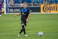SAN JOSE, CA - OCTOBER 18: Jackson Yueill #14 of the San Jose Earthquakes passes the ball during a game between Seattle Sounders FC and San Jose Earthquakes at Earthquakes Stadium on October 18, 2020 in San Jose, California.