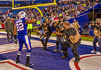 14 December 2014: Buffalo Bills running back Fred Jackson poses for photographers after a game against the Green Bay Packers at Ralph Wilson Stadium in Orchard Park, NY. The Bills defeated the Packers 21-13, snapping the Packers' 5-game winning streak and keeping the Bills' 2014 playoff hopes alive. Mandatory Credit: Ed Wolfstein Photo *** RAW (NEF) Image File Available ***