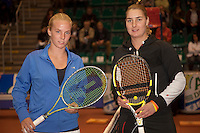 12-12-09, Rotterdam, Tennis, REAAL Tennis Masters 2009, Halve finale Richel Hogenkamp  Danielle Harmsen