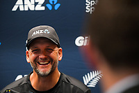 NZ bowling coach Shane Jurgensen. The Black Caps presser for the International Test Cricket match between the New Zealand Black Caps and West Indies at the Basin Reserve in Wellington, New Zealand on Wednesday, 9 December 2020. Photo: Dave Lintott / lintottphoto.co.nz