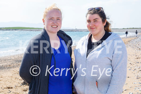 Enjoying a stroll in Fenit on Thursday, l to r: Jennifer White and Sharon O'Connor.