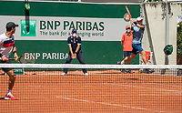 Paris, France, 1 june 2021, Tennis, French Open, Roland Garros, First round doubles match:  Jean-Julien Rojer (NED) and Wesley Koolhof (NED) <br /> Photo: tennisimages.com