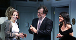 "Elaine May, Kenneth Lonergan and Lila Neugebauerduring the Opening Night Curtain Call bows for ""The Waverly Gallery"" at the Golden Theatre on October 25, 2018 in New York City."