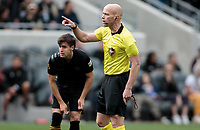 LOS ANGELES, CA - MARCH 01: Allen Chapman center referee during a game between Inter Miami CF and Los Angeles FC at Banc of California Stadium on March 01, 2020 in Los Angeles, California.