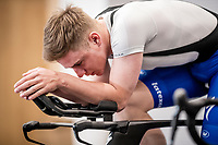 indoor turbo trainer session with Remco Evenepoel (BEL/Deceuninck-QuickStep)<br /> <br /> Team Deceuninck-QuickStep january 2020 training camp in Calpe, Spain<br />  <br /> ©kramon