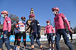 EF Education-Nippo arrive at sign on before the start of the 112th edition of Milan-San Remo 2021, running 299km from Milan to San Remo, Italy. 20th March 2021. <br /> Photo: LaPresse/Gian Mattia D'Alberto | Cyclefile<br /> <br /> All photos usage must carry mandatory copyright credit (© Cyclefile | LaPresse/Gian Mattia D'Alberto)