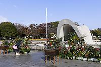 Hiroshima Peace memorial park.