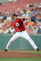 July 20th 2008:  Pitcher Bryan Bullington of the Buffalo Bisons, Class-AAA affiliate of the Cleveland Indians, during a game at Dunn Tire Park in Buffalo, NY.  Photo by:  Mike Janes/Four Seam Images