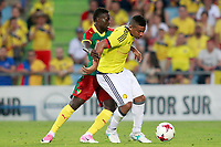 Colombia's Frank Fabra (r) and Cameroon's Olivier Boumal during international friendly match. June 13,2017.(ALTERPHOTOS/Acero) (NortePhoto.com) (NortePhoto.com)