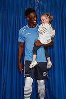 Anthony Stewart of Wycombe Wanderers  during the 2016/17 Kit Launch of Wycombe Wanderers to the public at Adams Park, High Wycombe, England on 10 July 2016. Photo by David Horn.