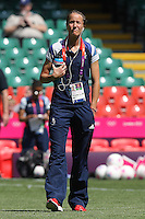 Casey Stoney of GB walks on the pitch before the game - Great Britain Women vs New Zealand Women - Womens Olympic Football Tournament London 2012 Group E at the Millenium Stadium, Cardiff, Wales - 25/07/12 - MANDATORY CREDIT: Gavin Ellis/SHEKICKS/TGSPHOTO - Self billing applies where appropriate - 0845 094 6026 - contact@tgsphoto.co.uk - NO UNPAID USE.