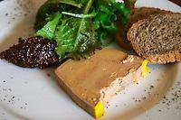 foie gras duck's liver restaurant le bistrot crozes hermitage rhone france