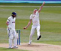 Kent's Harry Podmore bowls during Kent CCC vs Yorkshire CCC, LV Insurance County Championship Group 3 Cricket at The Spitfire Ground on 15th April 2021