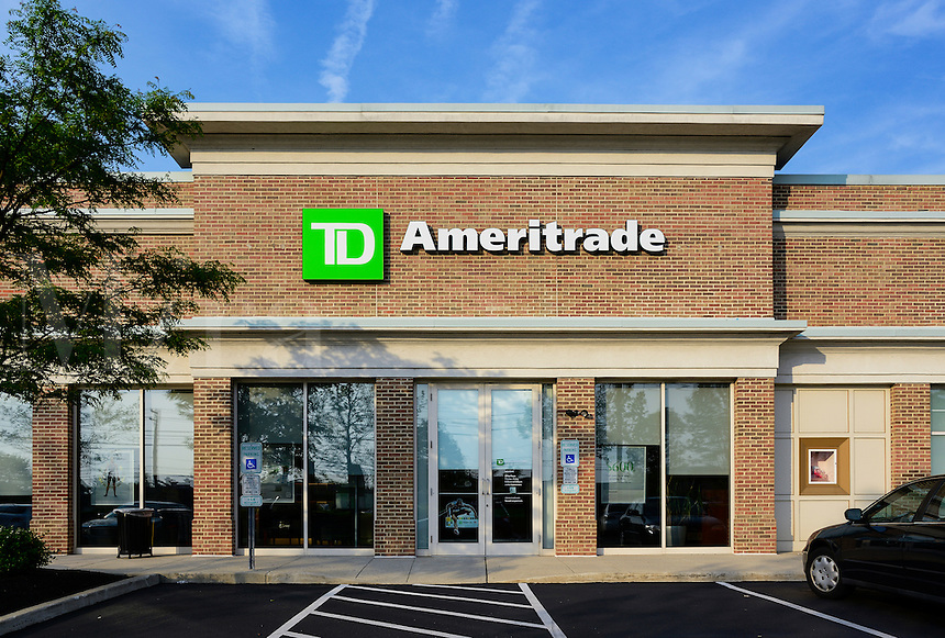 TD Ameritrade discount brokerage office, Mount Laural, New Jersey, USA.