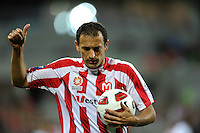 MELBOURNE, AUSTRALIA - FEBRUARY 12: Josip Skoko of the Heart reacts to the crowd in the round 27 A-League match between the Melbourne Heart and Sydney FC at AAMI Park on February 12, 2011 in Melbourne, Australia. (Photo Sydney Low / AsteriskImages.com)