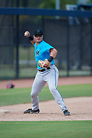 Miami Marlins third baseman Nic Ready (40) during practice before an Instructional League game against the Washington Nationals on September 26, 2019 at FITTEAM Ballpark of The Palm Beaches in Palm Beach, Florida.  (Mike Janes/Four Seam Images)